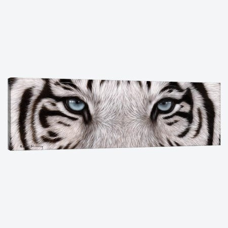 White Tiger Eyes Canvas Print #SLG54} by Rachel Stribbling Canvas Wall Art