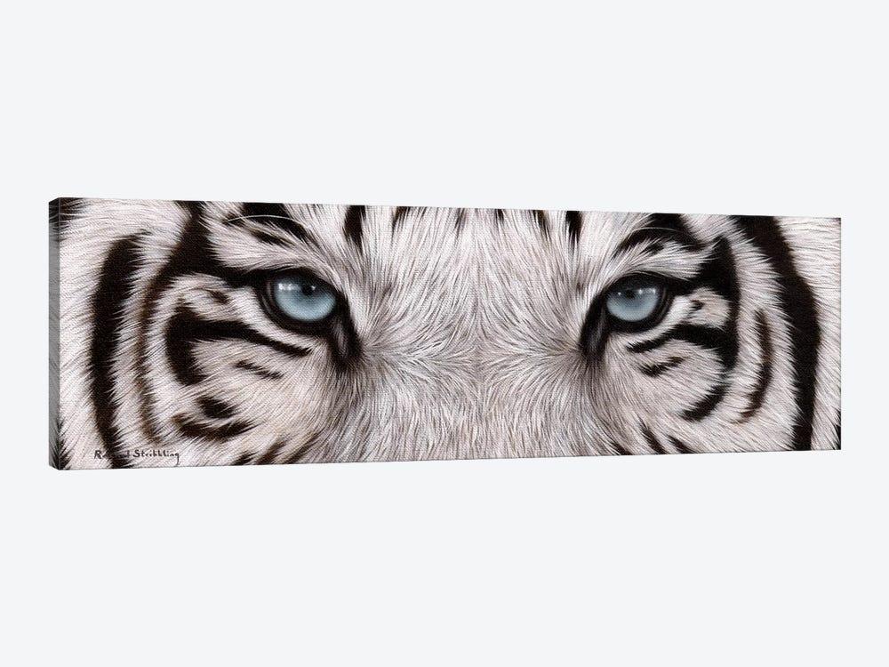 White Tiger Eyes by Rachel Stribbling 1-piece Art Print