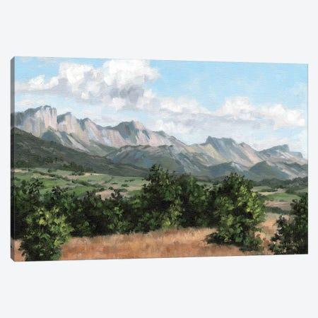 Mountain Landscape Canvas Print #SLG73} by Rachel Stribbling Canvas Art Print