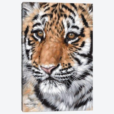 Tiger Cub Canvas Print #SLG82} by Rachel Stribbling Canvas Art