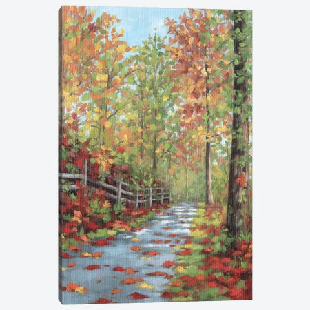 Autumn Walk Canvas Print #SLG83} by Rachel Stribbling Canvas Artwork