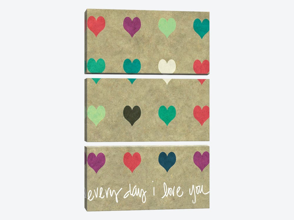 Everyday Love by Shelley Lake 3-piece Canvas Art Print