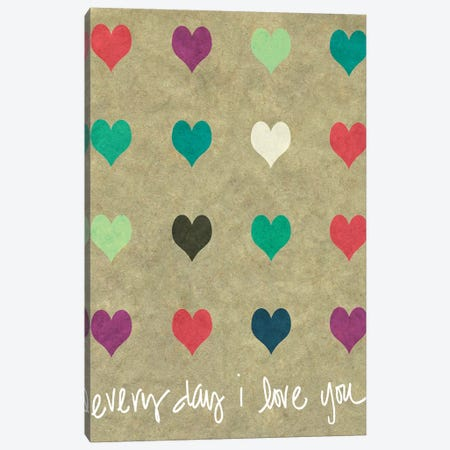 Everyday Love Canvas Print #SLK18} by Shelley Lake Canvas Art Print
