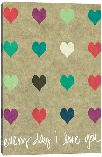 Everyday Love Canvas Art Print