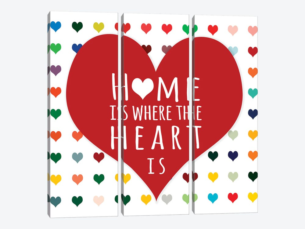 Home is Where by Shelley Lake 3-piece Canvas Art Print