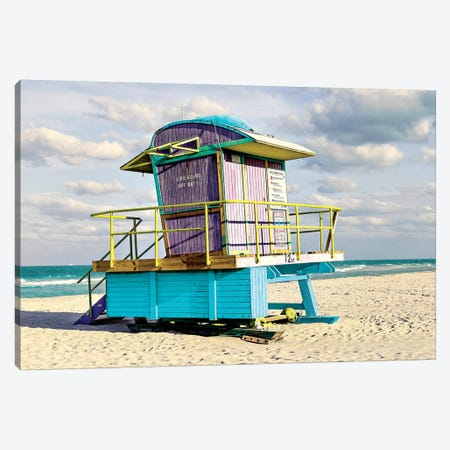 12th Street Lifeguard Stand Canvas Print #SLK2} by Shelley Lake Canvas Art Print