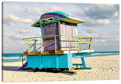 12th Street Lifeguard Stand Canvas Art Print