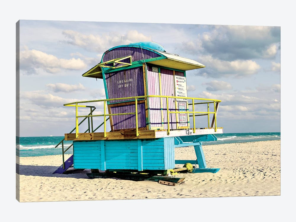 12th Street Lifeguard Stand by Shelley Lake 1-piece Canvas Artwork