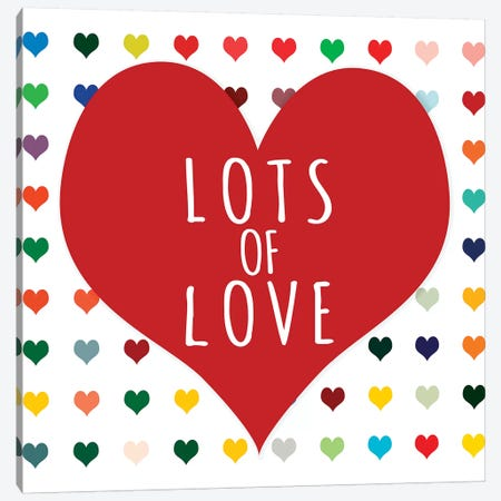 Lots of Love Canvas Print #SLK30} by Shelley Lake Canvas Art Print