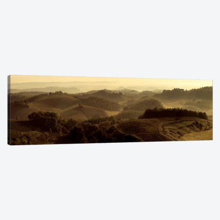 Sunrise over Tuscany Canvas Print #SLK38} by Shelley Lake Canvas Print