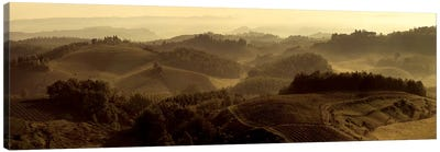 Sunrise over Tuscany Canvas Art Print