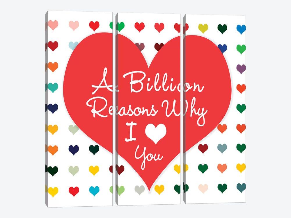 Billion Reasons by Shelley Lake 3-piece Canvas Art Print