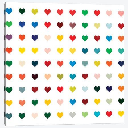 Black Heart Canvas Print #SLK6} by Shelley Lake Canvas Wall Art