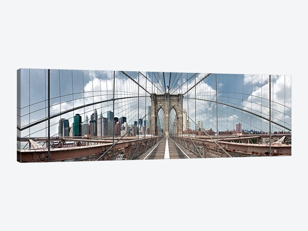 Brooklyn Bridge by Shelley Lake 1-piece Canvas Art Print