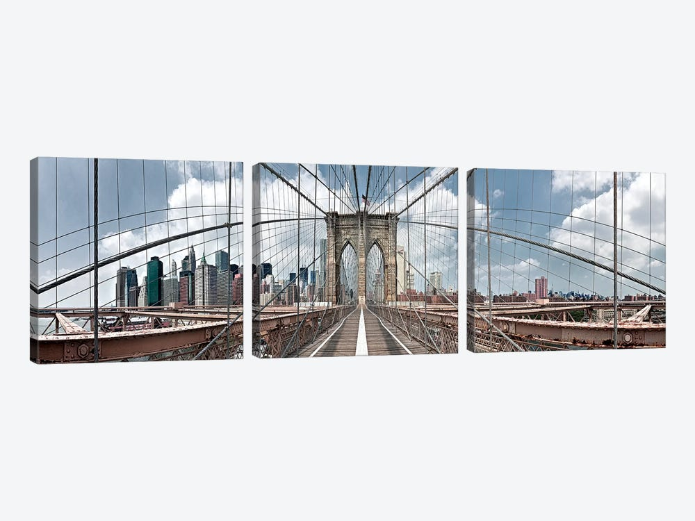 Brooklyn Bridge by Shelley Lake 3-piece Art Print