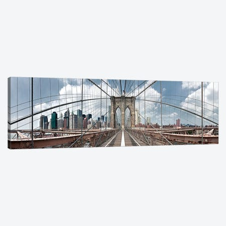 Brooklyn Bridge Canvas Print #SLK7} by Shelley Lake Canvas Art