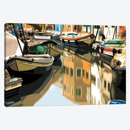 Burano Boats Canvas Print #SLK8} by Shelley Lake Canvas Print