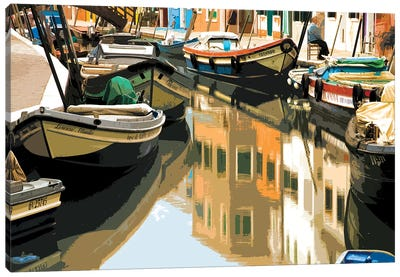 Burano Boats Canvas Art Print