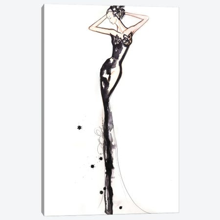 Black And White Figure Drawing Canvas Print #SLL17} by Sonia Stella Canvas Art Print