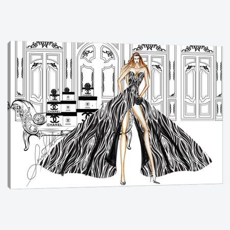 A Day Of Shopping At Chanel Canvas Print #SLL1} by Sonia Stella Canvas Artwork