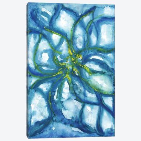 Blue Flowers Alone 3-Piece Canvas #SLL21} by Sonia Stella Canvas Art Print