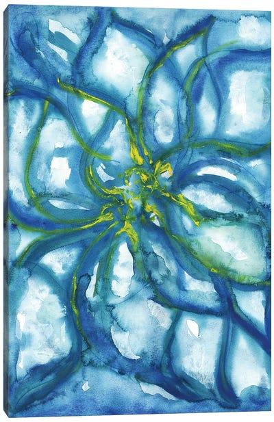 Blue Flowers Alone Canvas Art Print