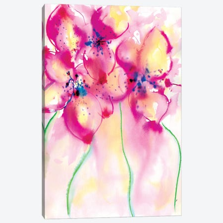 Bold Flowers II Canvas Print #SLL23} by Sonia Stella Canvas Print