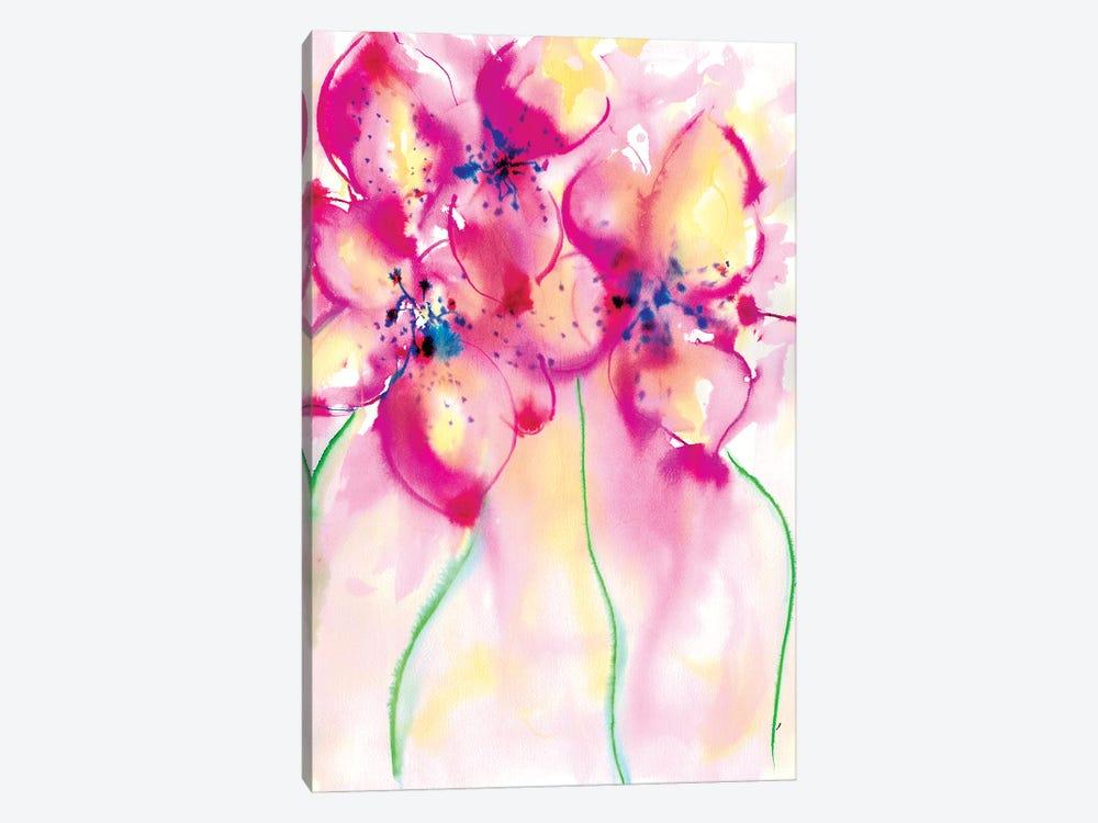 Bold Flowers II by Sonia Stella 1-piece Canvas Art