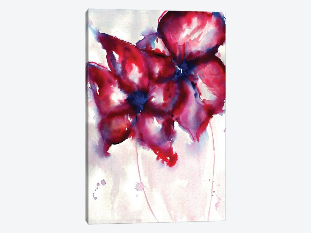 Bright Flowers by Sonia Stella 1-piece Canvas Print