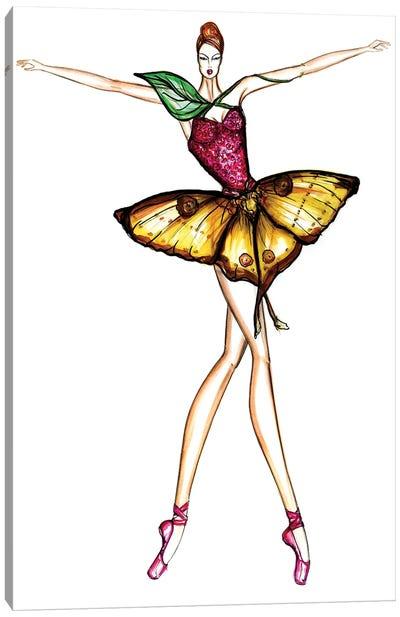 Butterfly Ballerina Canvas Art Print