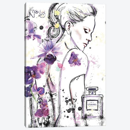 Chanel 5A Canvas Print #SLL26} by Sonia Stella Canvas Art