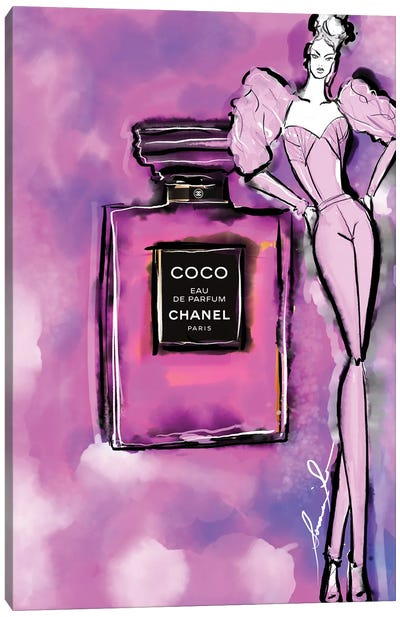 Chanel Coco Pink Canvas Art Print