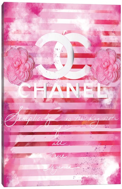Chanel Quote Pink Canvas Art Print