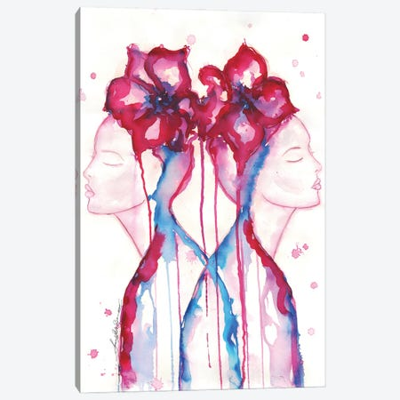 Contemplation Double 3-Piece Canvas #SLL36} by Sonia Stella Canvas Print