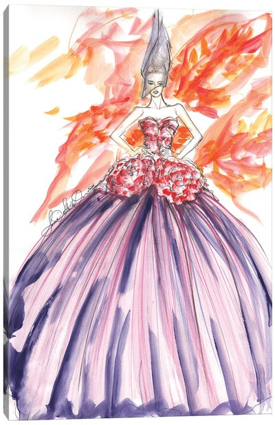 Dior With Flowers Canvas Art Print