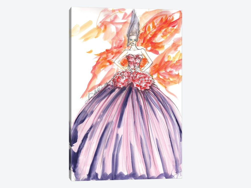 Dior With Flowers by Sonia Stella 1-piece Art Print
