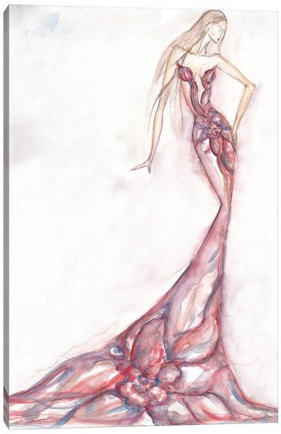 Floral Watercolor Figure Painting Canvas Art Print