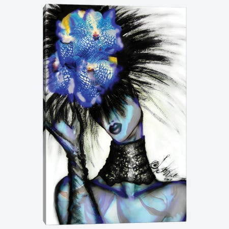 Girlwithtuliphat III Canvas Print #SLL45} by Sonia Stella Canvas Artwork