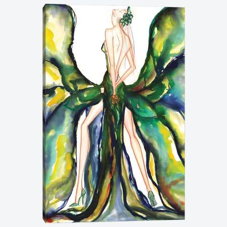 Green Magnolia Canvas Print #SLL46} by Sonia Stella Canvas Artwork