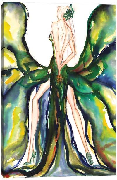Green Magnolia Canvas Art Print