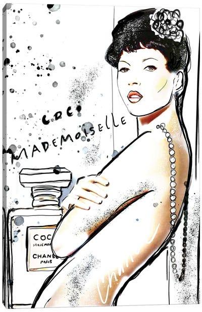 Mademoiselle Chanel Art III Canvas Art Print