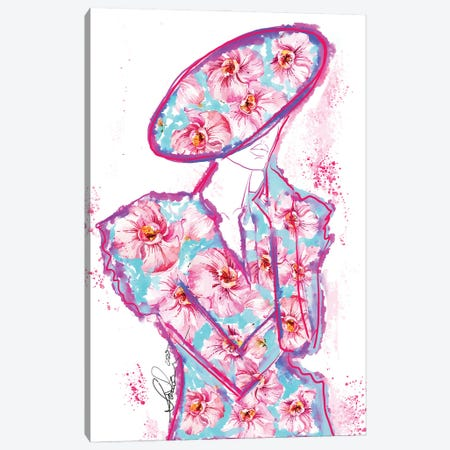 Abstract Orchid Fashion Art Canvas Print #SLL4} by Sonia Stella Art Print