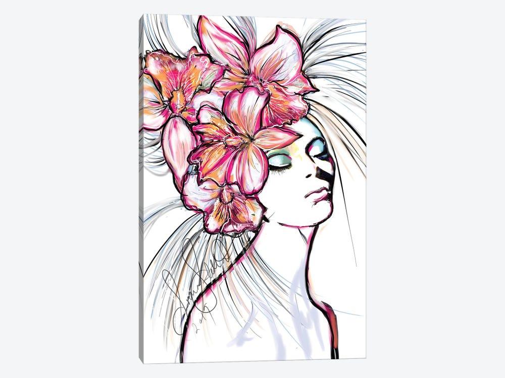 Ochids by Sonia Stella 1-piece Canvas Wall Art