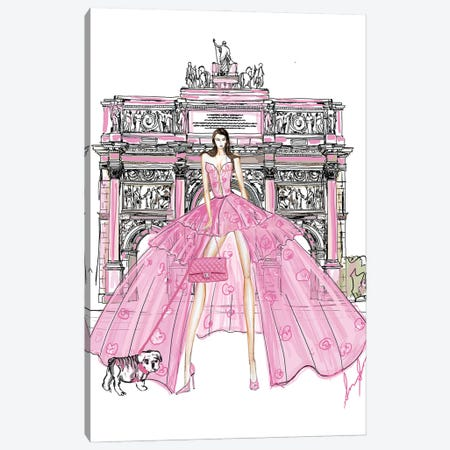 Paris IIA Hr Canvas Print #SLL54} by Sonia Stella Art Print