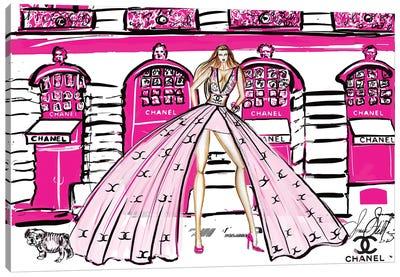 Pink Chanel Girl At Shop Canvas Art Print