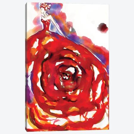 Secretgarden Watercolor Canvas Print #SLL64} by Sonia Stella Canvas Art