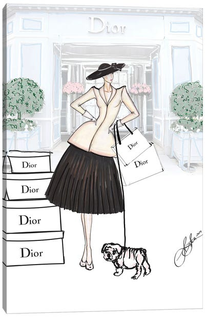 The New Look Dior Drawing I Canvas Art Print