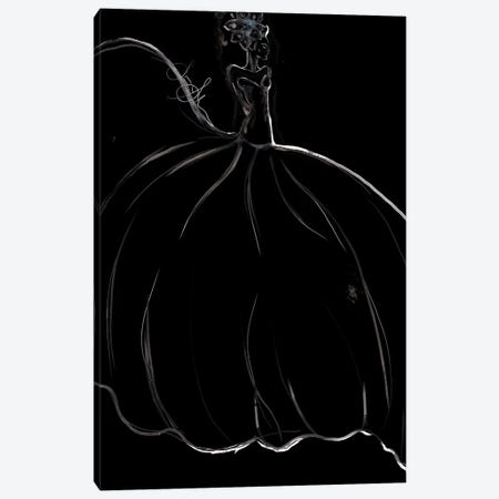 Watercolor Couture Black I Canvas Print #SLL71} by Sonia Stella Canvas Wall Art