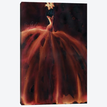 Watercolor Couture Red Canvas Print #SLL72} by Sonia Stella Canvas Wall Art