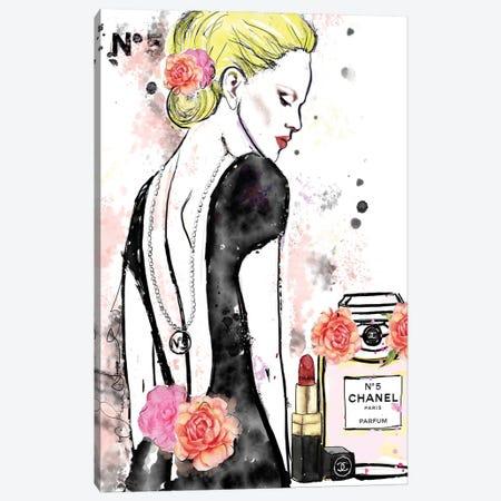 Chanel No 5 Nicole Kidman Canvas Print #SLL73} by Sonia Stella Canvas Wall Art
